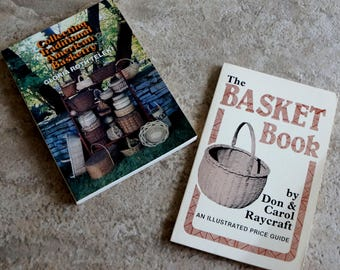 Vintage Book Collecting Traditional American Basketry The Basket Book Two Books