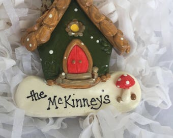 """New for 2017... personalized original """"Fairy"""" House"""