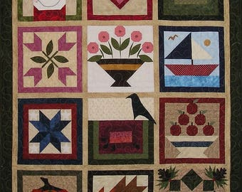 OOAK Through The Year Seasons Holiday Finished Quilt