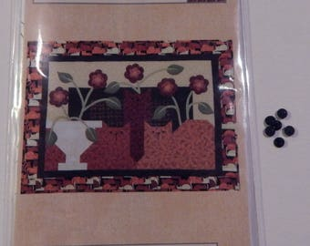 Cozy Cats Quilt Pattern With Hillcreek Buttons Included and Free Shipping