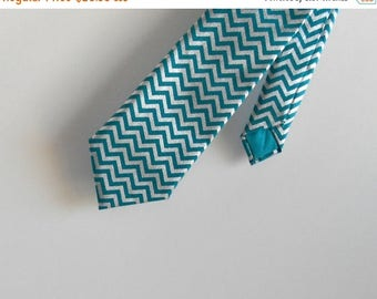 SALE Teal and Metallic Silver Chevron Necktie - Skinny or Standard Width - Men's, Teen, Youth     2 weeks before shipping