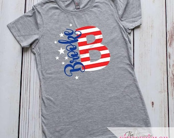 Girls Personalized  4th of July Shirt | Patriotic Personalized Girls Shirt | Personalized t-shirt | Kids 4th of July | Child 4th of July |