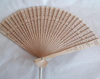 Vintage Wood Asian Fan //1