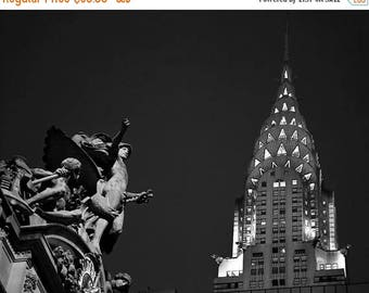 SUMMER SALE-Ends July 5- New York Photography Chrysler Building Photo Grand Central Print Nyc Photo City Night Urban Black and White nyc86