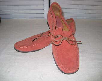 vintage Dusty Peach Suede Loafers by Cole Haan  size 8 1/2 M
