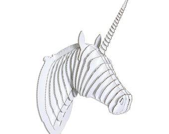 Merlin Cardboard Unicorn Head - Giant - White