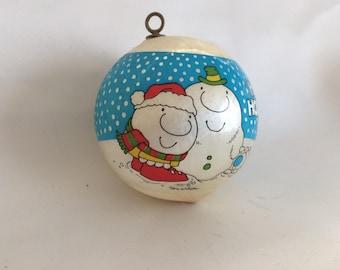 1982 Satin Ziggy Christmas Ornament