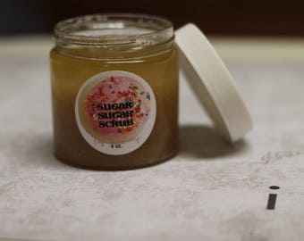 COCONUT MARSHMALLOW Classic Sugar Scrub - Limited Time Summer Scent 4 oz. made with Organic Sugar - Vegan Friendly - Coconut + Marshmallow