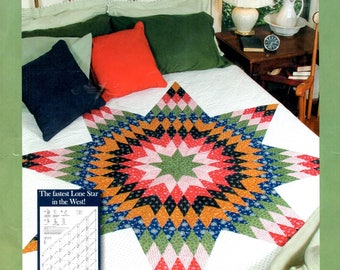 Lone Star Quilt Kit 58 Inches Square No Template Quilt Making Craft Pattern