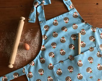 Christmas Puddings Adult Apron