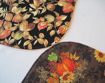 Sunflower And Pumpkin Oval Placemats Reversible 4 Or 6 Fall Oval Placemats  Thanksgiving Placemats Fall Table