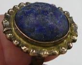 BIG Lapis Lazuli Ring Vintage Adjustable