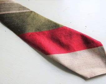 Vintage 1960s All Silk Skinny Necktie