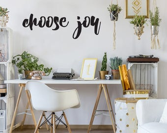 Choose Joy Farmhouse Style Decal 10x31 saying Chunky Script Decor Vinyl Wall Decal Graphic