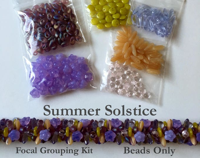Beads to Create Summer Solstice a Beaded Kumihimo Focal Group, Beads Only