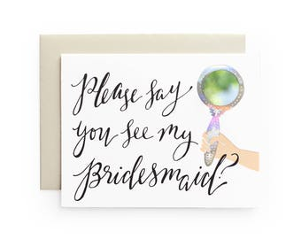 Bridesmaid - letterpress card