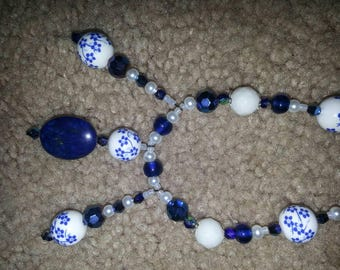 Handmade OOAK #35 beaded necklace