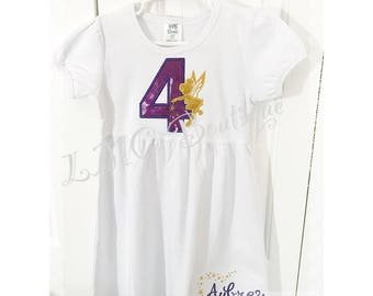 Tinkerbell birthday dress - Personalized Fairy Birthday dress Number - Fairy birthday dress - Tinkerbell  Dress - Fairy party