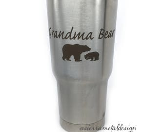 Grandma Bear Tumbler Best Grandma Ever Gift For Grandma Best Grandma Gift Mothers Day Love From Grandkids Grandma Life 20 oz Tumbler