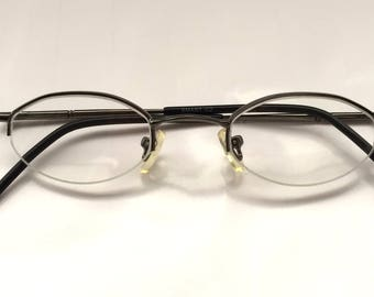 90s Vintage Super Small Oval Eyeglasses Small Head Size