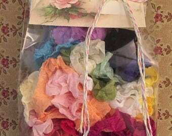 Crinkled Seam Binding 96  Yards(288 Feet)Sample Pack 4 Yards=12 feet Each Color~24 Pretty Colors