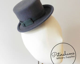 Wool Mini Miniature Top Hat Fascinator Base for Millinery - Grey