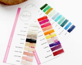 Petershams Millinery Supplies Sinamay Fabric Shade Card 2017/18