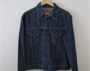 Spring SALE Vintage 80s Levi jean jacket / Grunge Boho Rocker denim Trucker jacket