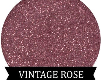 VINTAGE ROSE Pink Glitter Face and Body Cosmetic Glitter