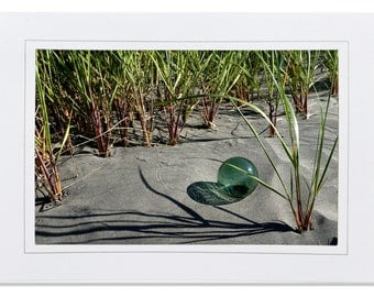 Beach Cards - Japanese Fishing Float Cards - Fishing Float in Sea Grass - Sea Glass Floats Cards - Beach Cards Glass Floats