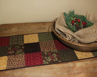 Forever Green Christmas quilted table runner