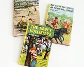 Vintage 1950s Childrens Chapter Book The Happy Hollisters by Jerry West HCDj Like-New, CHOOSE Your Book Pony Hill Farm Sea Turtle Mystery