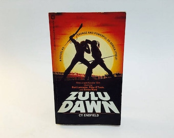 Vintage Book Zulu Dawn by Cy Endfield 1980 Movie Tie-In Edition Paperback