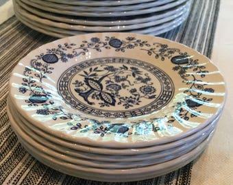 Myott Meakin Blue Onion Blue Nordic Dessert Plate