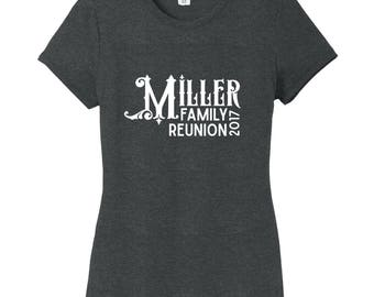 Custom Family Reunion - Personalized Women's Fitted T-Shirt