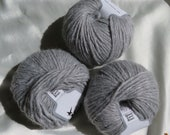 Destash- Ice Yarn Wool Cord Aran | Color Light Grey
