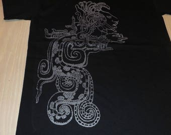 T-Shirt - Vision Serpent (Silver on Black)