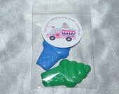 Ice Cream Crayons, Ice Cream Party Favors, 40 Crayons Ice Cream Cones Shaped And 20 Ice Cream Stickers. Party Favors, Crayons.