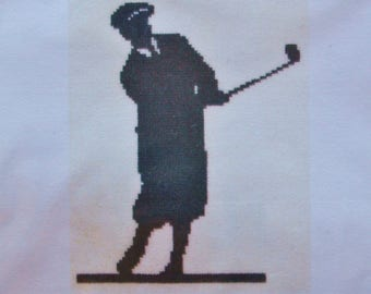 The Classic Golfer Golf Posy Counted Cross Stitch Kit