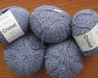 Classic Elite Yarn, Cricket, Lavender Cotton Linen Yarn, Five Skeins Plus... Made in Italy