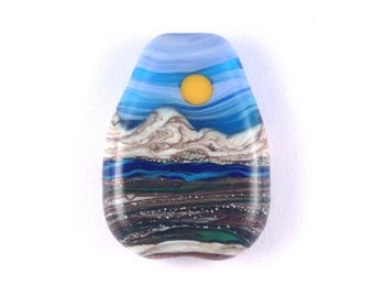 The Beauty In Nature - Handmade Lampwork Glass Bead Landscape Focal