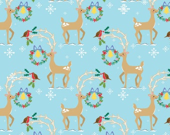 Christmas Wrapping Paper - Dove Wrapping Paper- Deer Wrapping Paper- Recycled Wrapping Paper - Christmas Gift Wrap