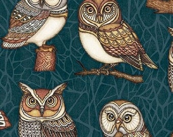 Where The Wise Things Are - Owl One Way - 1/2 yd. cuts