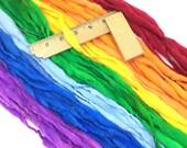 Classic rainbow yarn, 65 yards, handspun super bulky in merino wool - 3.75 ounces/ 107 grams