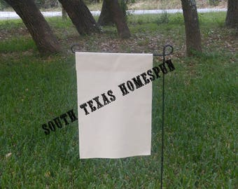 Natural Canvas Garden Flag, Blank and  ready to decorate! Single layered flag ,Vinyl or Paint
