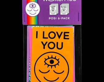 I love you / be nice to you stickers