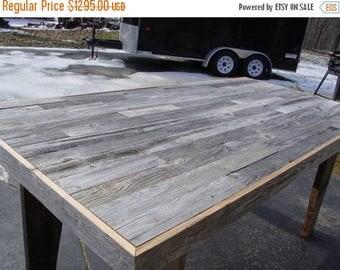 PICK ME SALE harvest table, barn wood furniture, country farm table, farmhouse table, farmers tablre, 2 barn wood benches, reclaimed wood, d