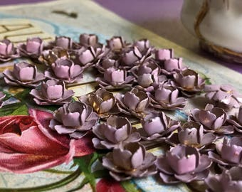 Vintage metal flowers Roses Pink Findings Brass Pink Jewelry Supplies Rose, shabby chic flowers, boho,  shabby chic roses #135B