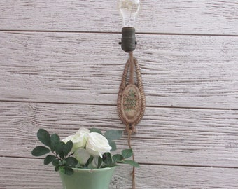 antique - vintage lighting - wall lamp - wall sconce - flower motif