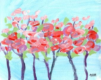 "decorative wall art - ""Color Twist"" - original acrylic painting - home decor"